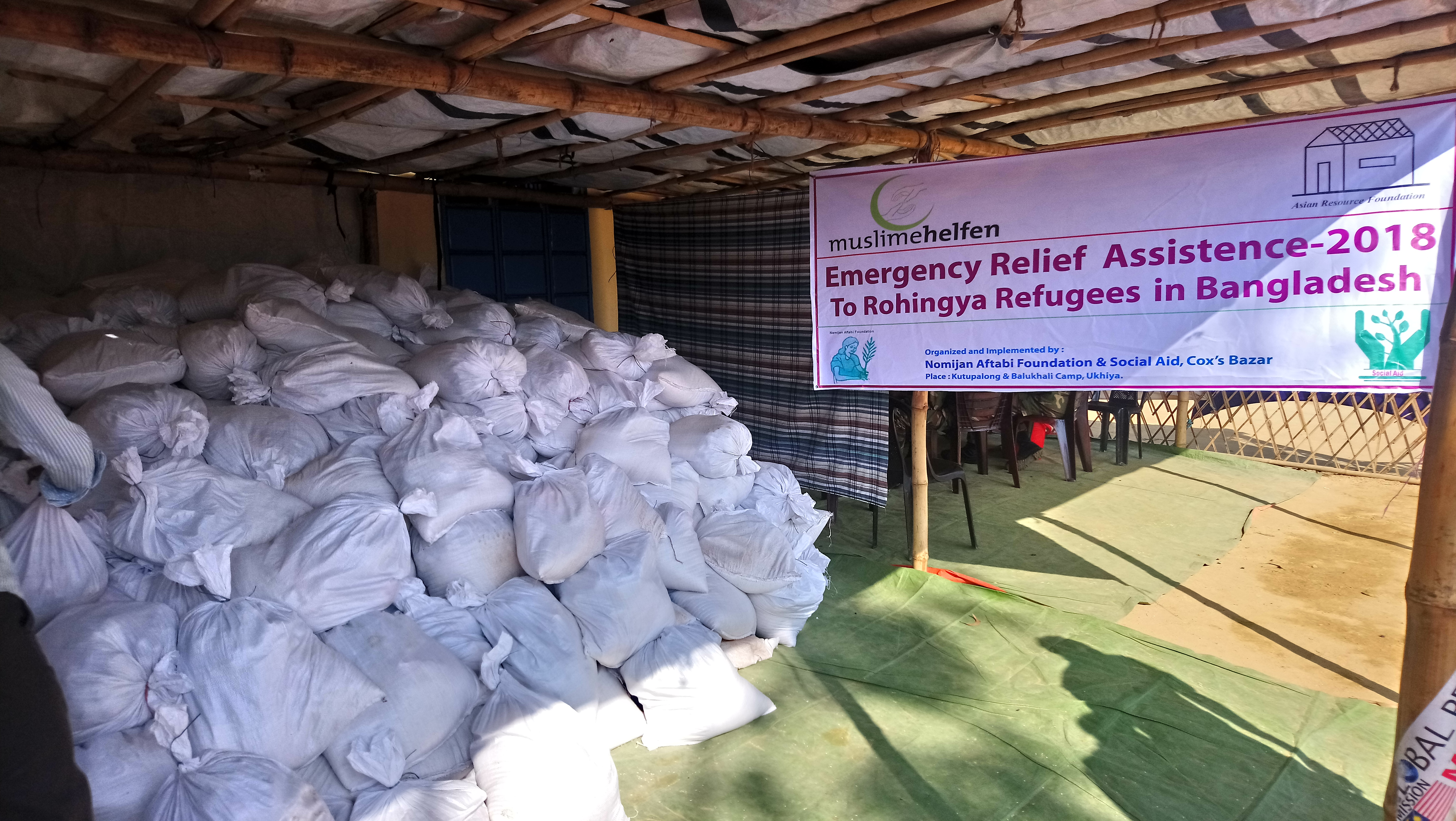 01 Monthly food assistance in the Rohingya Refugee Camps, Cox's Bazar, Bangladesh
