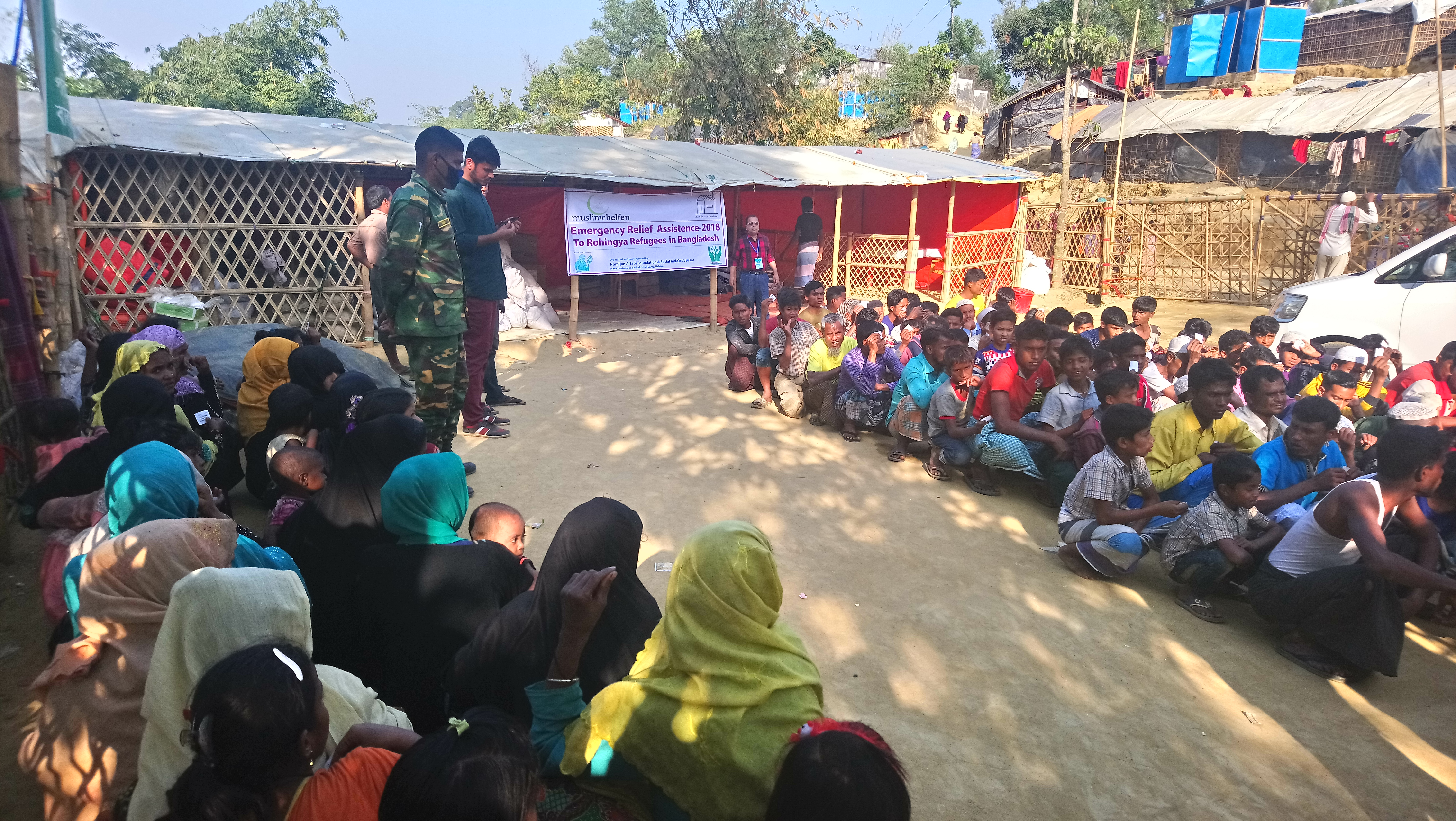 10 Materials Distribution happens right inside the Rohingya Refugee Camp