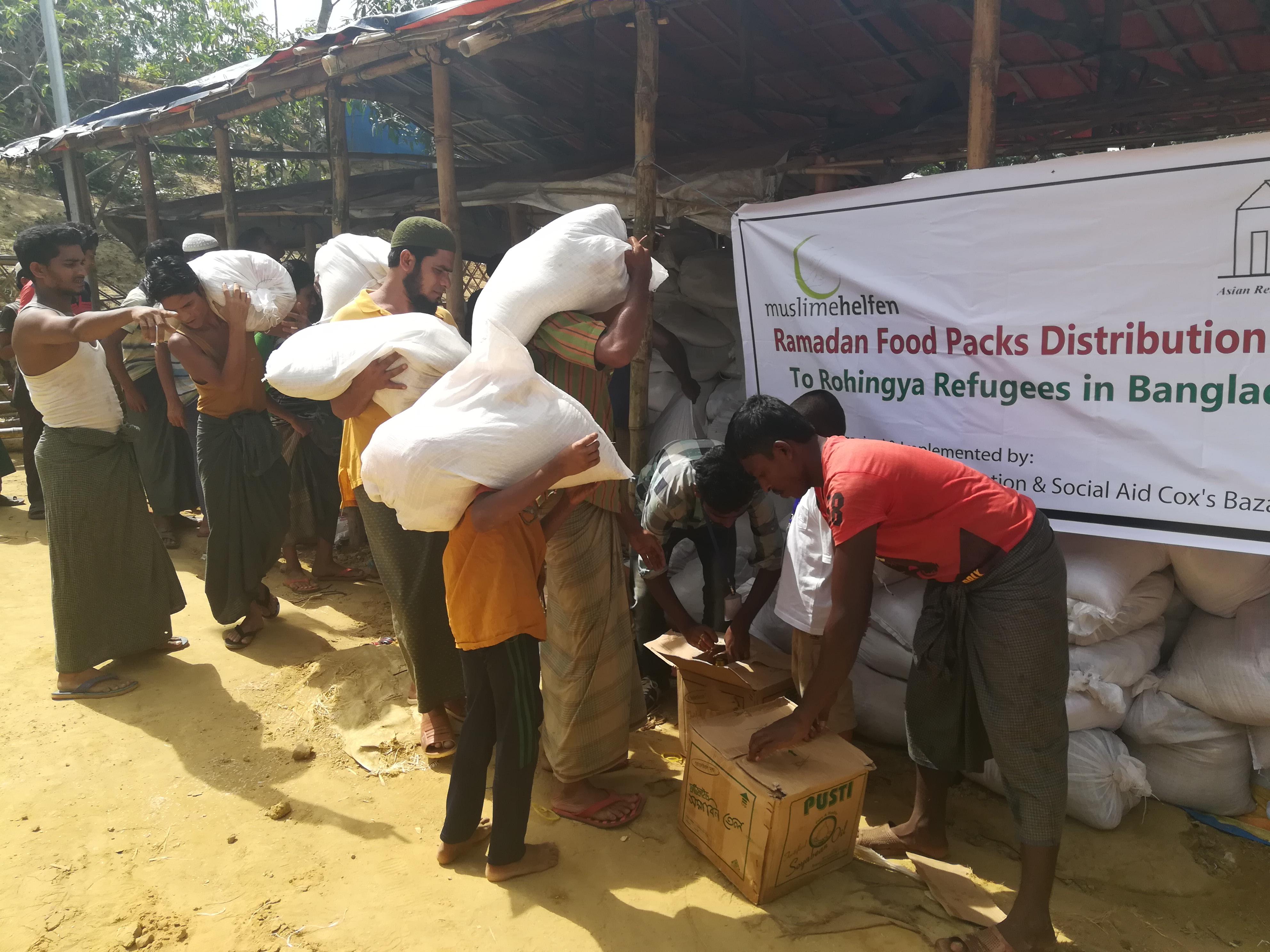 11 Ramadan Food Packs Distribution, , Rohingya Refugee Camps, Cox's Bazar, Bangladesh
