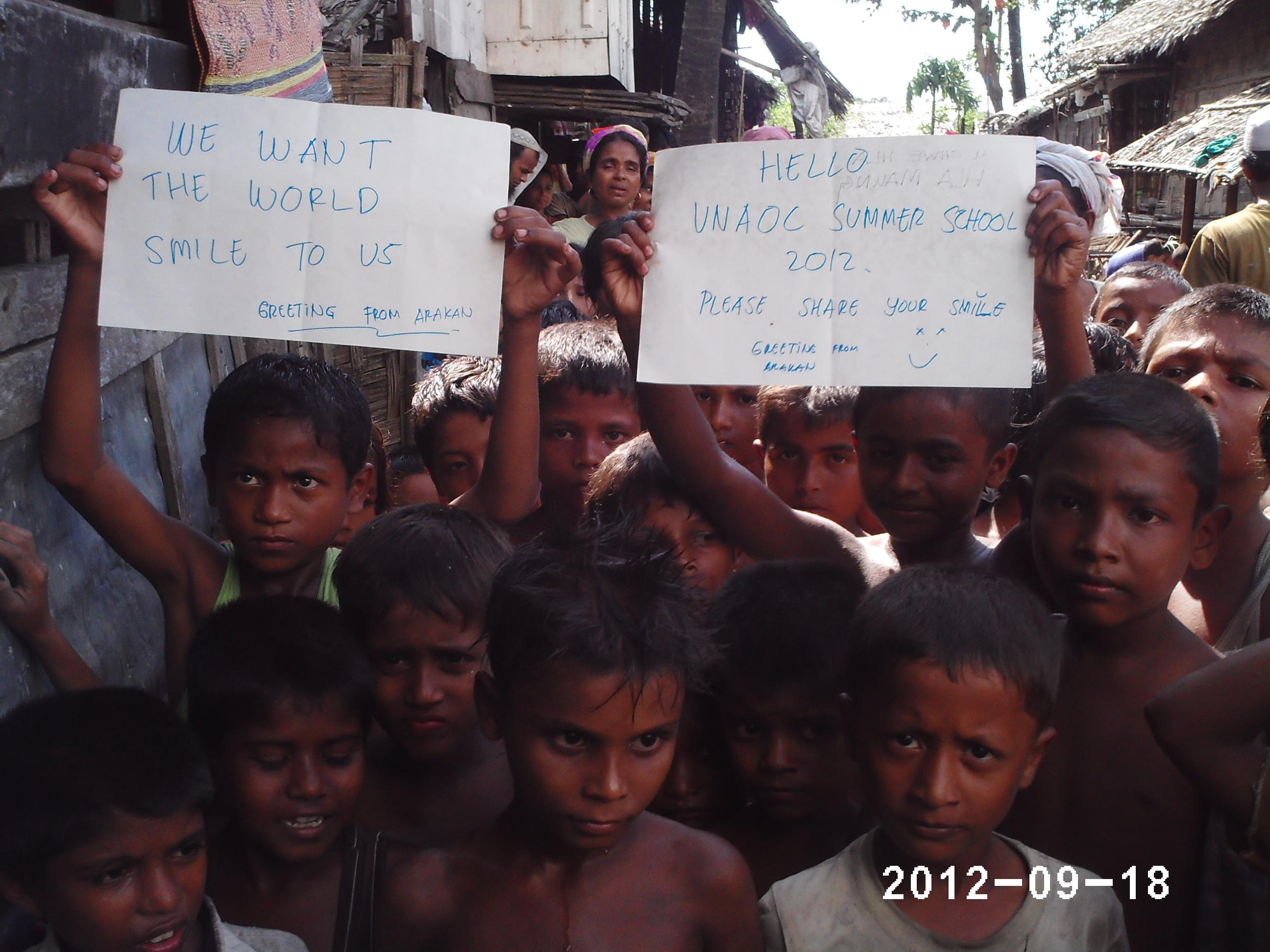27 Meeting Rohingya children during field visit in Myanmar