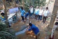 08 A well tube installation, Rohingya Refugee Camps, Cox's Bazar, Bangladesh