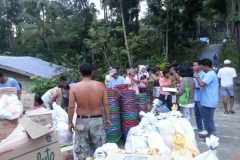 """18 Food Distribution at a village affected by """"Typhoon Haiyan"""", Philippines 2013"""