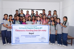 26 Providing grant for a classroom reconstruction affected by the Earthquake Nepal