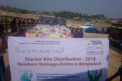 Starter kits distribution for newborn Rohingya babies