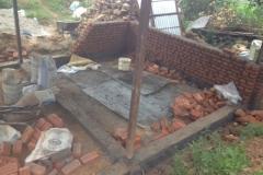 Rebuilding home from the 2015 Nepal earthquake in Kathmandu, Nepal