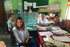 LOMEF representatives evaluating exam papers in Joypurhat, Bangladesh