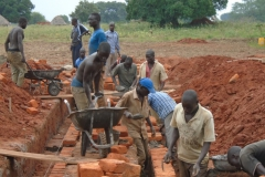 """A construction project of """"Aliba Parents Nursery and Primary school"""" started in 2014 in Uganda, Africa,"""