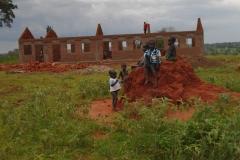 The school building is in progress in Uganda, 2014