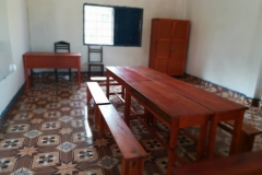 The additional classroom as multi-functional space of teachers' office and library, Vientiane, LAO PDR, 2017