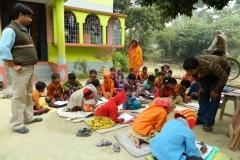 Teachers and students in Ramchandrapur Kishor Bikas Siskha Angan School, Kolkata, India