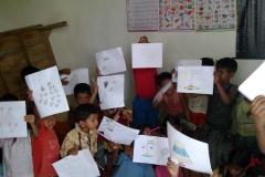 Art class in Srimontopur Naba Bikash Siksha Angan School, Kolkata, India