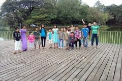 Students of Htauk Kyant Center during exposure visit, Yangon, Myanmar