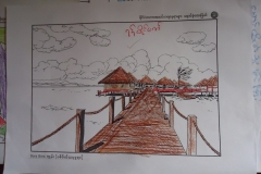 A drawing from a student in Htauk Kyant Center, Yangon, Myanmar