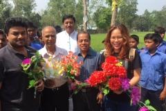 ARF-LOMEF representatives and the president of NAF Foundation during school visit in Joypurhat, Bangladesh